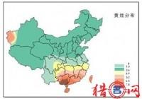 黄姓人口的主要分布